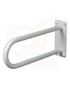 Vaste toiletbeugel 50 cm staal wit