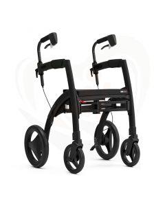 Rollz Motion2 rollator en rolstoel in 1 product - mat zwart voorzijde als rollator