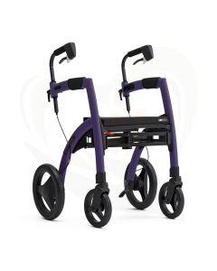 Rollz Motion2 rollator en rolstoel in 1 product - paars voorzijde als rollator