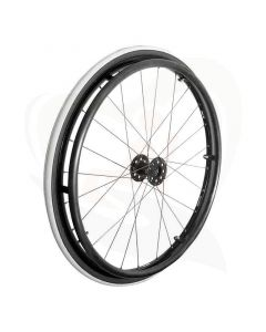 Spaakwiel met luchtband 24x1 sport design grijs/zwart