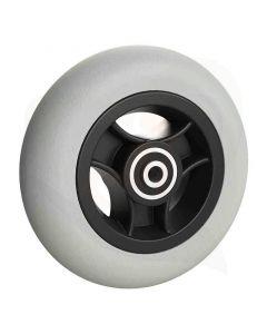 Wiel met rubberband 5x1 1/4 grijs