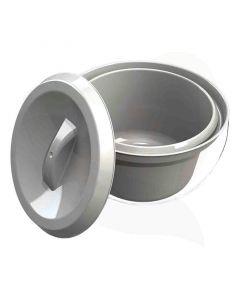 Toiletemmer grijs (RAL 7001)