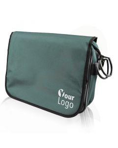 Premium messenger bag 380x270x110 mm blauwgrijs