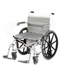 Douche en toiletrolstoel Drive Duo Motion XL - 24 inch wielen voorzijde
