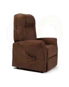 Sta-op stoel Vermeiren Ontario 1 - stof bruin voorzijde