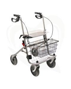 Rollator Drive Cristallo robuust en sterk voorzijde