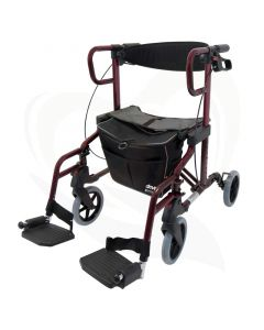 Rollator Drive Diamond Deluxe - Rollator en rolstoel in 1 - als rolstoel