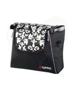 Design boodschappentas Baroque zwart wit Troja Classic en Troja 2G rollators