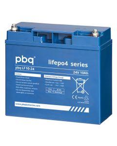 Scootmobiel accu PBQ LifePo4 24V-10Ah Lithium voorzijde