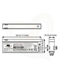 MK Battery AGM accu ES2.9-12 12Volt 2.3Ah technische gegevens