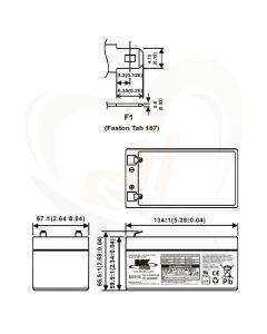 MK Battery AGM accu ES3-12 12Volt 3Ah technische gegevens