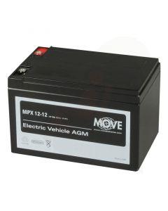 Accu Move MPX 12-12 AGM 12V-15Ah voorzijde
