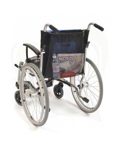 Boodschappennetje bevestigd aan rolstoel