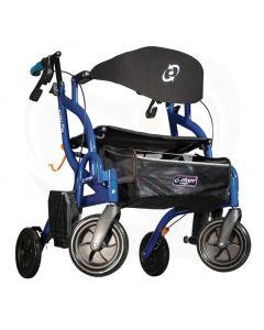 Rollator Airgo Fusion 2 in 1 met rolstoelfunctie