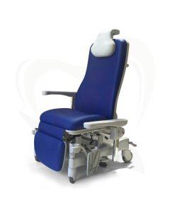 Behandelstoel / Infuusstoel Givas Relax Vario Oleo-D - MR1078 blauw voorzijde