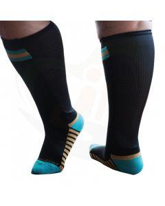 sokken xpandasox zwart/turquoise