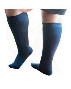 sokken xpandasox kabelpatroon blauw