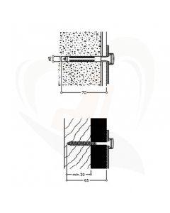montageset voor toiletbeugels normbau