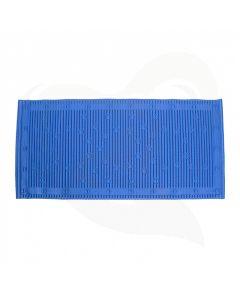 badmat anti-slip blauw 43x90 cm