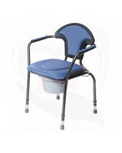 toiletstoel verstelbaar korenblauw