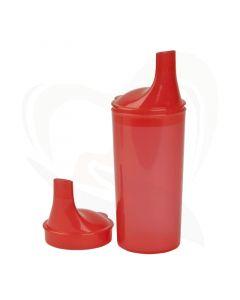 Drinkbeker met lange tuitdeksels rood