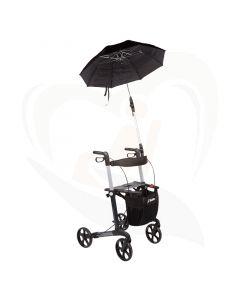Paraplu voor Mobilex rollators gemonteerd op frame