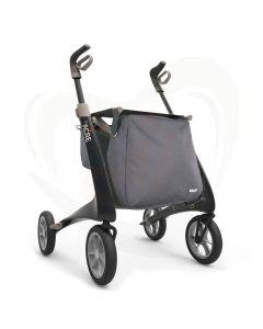 Rollator Acre Carbon Ultralight - zwart met tassen