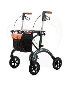 Rollator ultra lichtgewicht carbon Mobilex Gepard voorzijde met rugband