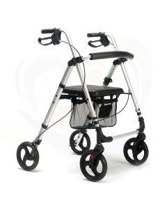 Rollator Vermeiren Eco Plus lichtgewicht voorzijde grijs