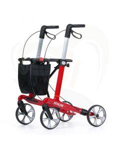 Rollator Rehasense Athlon ultra lichtgewicht kleur Rood - maat M - standaard grip wiel