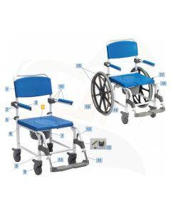 """Afdekplaat in zitting t.b.v. toiletemmer- onderdeel Drive Aston toilet rolstoel 24""""/5"""""""