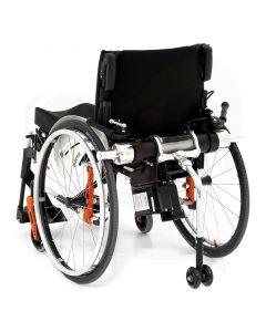 Rolstoelaandrijving - Quickie Light Drive 2 elektrische ondersteuning gemonteerd achterzijde rolstoel