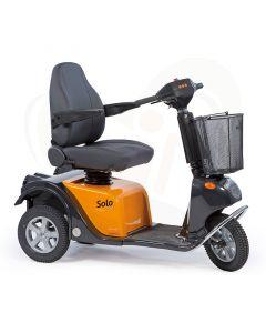 Scootmobiel Life en Mobility Solo 3 - Medisch geveerd en extreem comfortabel oranje accubak
