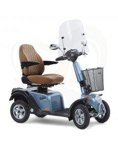 Scootmobiel Life en Mobility Solo 4 Blue Diamond voorzijde