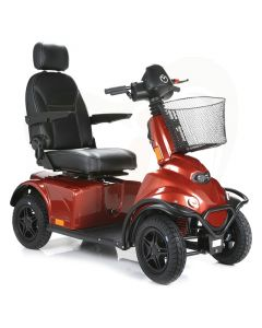 Scootmobiel Mini Crosser X2 4-wiel voorzijde oranje