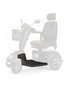 Scootmobiel Vermeiren Carpo 3-wiel voetenplaat bruin compleet