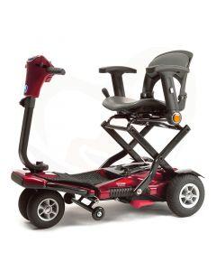 Opvouwbare scootmobiel Vermeiren Sedna Premium rood 4-wiel incl. luxe stoel met armleggers