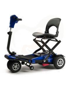 Opvouwbare scootmobiel Vermeiren Sedna blauw 4-wiel met luchtbanden en voetpedaal