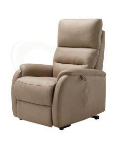 Sta-op stoel en relaxfauteuil Madrid voorzijde beige