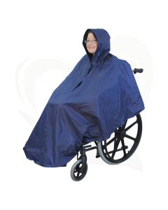 De rolstoel poncho zonder mouwen is een ideaal kledingstuk om u te beschermen tegen weer en wind.