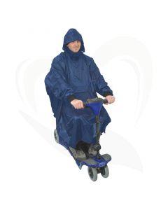 De rolstoel poncho met mouwen is een ideaal kledingstuk om u te beschermen tegen weer en wind.