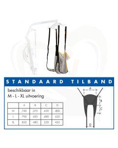 Tilmat /draagband met lussen voor passieve tilliften - diverse uitvoeringen
