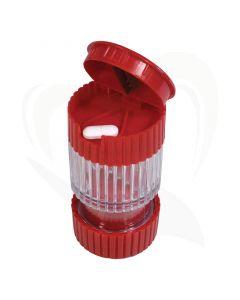 De Deluxe 3-in-1 pil splitter, vergruizer en opslag is een compact product die overal mee naar toe kan worden genomen.