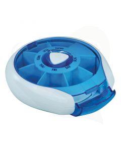 Deze handige en compacte pillendoos is zeer eenvoudig in het gebruik en neemt u overal mee naar toe.